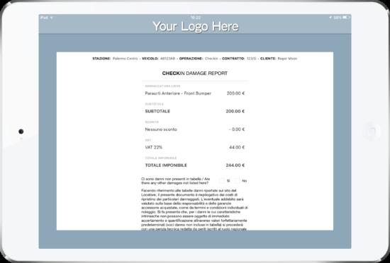 Car Rental Checklist Software App by My Appy Preventivo
